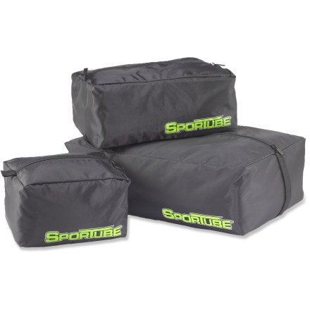 Ski Sportube Gear Paks feature 3 zippered sacks of differing sizes to make packing and organizing your gear a simple, easy process. - $31.93