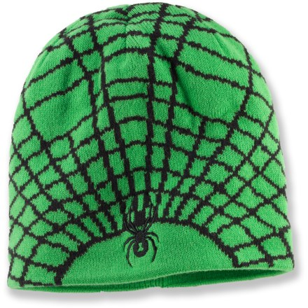 Entertainment The Spyder Mini Web hat will help keep your toddler warm while playing in the snow or just going for a walk on a cold winter day. Soft and thick acrylic fabric provides superior warmth and easy care. Itch-free microfleece lining wicks away moisture and enhances comfort. 1 size fits most toddlers and young kids. - $11.83