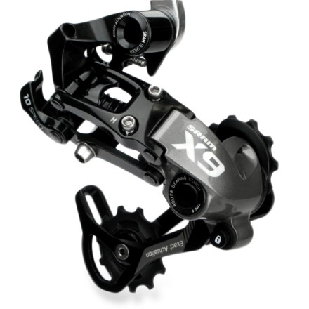 MTB Full of smart, trail-ready features, the SRAM X9 Type-2 10-speed rear derailleur delivers quiet, precise operation so you can shred singletrack in peace. - $59.93