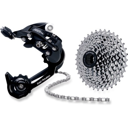 MTB Upgrade your bike for conquering challenging climbs, this SRAM Climber's kit includes a Rival rear derailleur, 11-32 10-speed cassette and a chain to make easier work of ascents. - $184.00