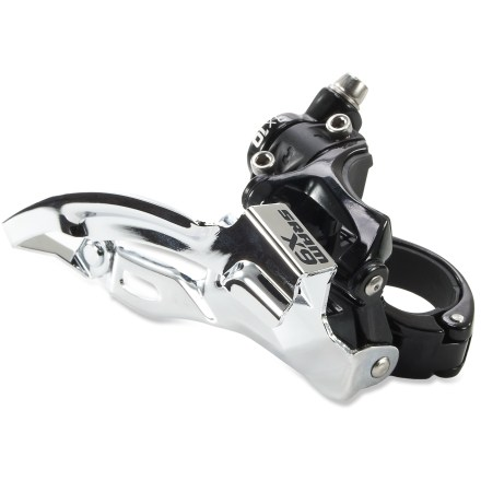MTB Ready for your 3x10 drivetrain, this SRAM X9 bottom-pull front derailleur delivers sturdy, clean shifts across all 3 chainrings. - $56.00