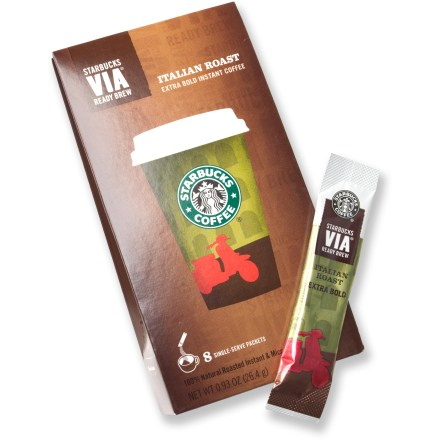Camp and Hike This 8-pack of great-tasting Starbucks VIA(TM) Ready Brew instant coffee lets you start every morning off right-whether you're at home, in the office or halfway up an alpine peak! - $7.95