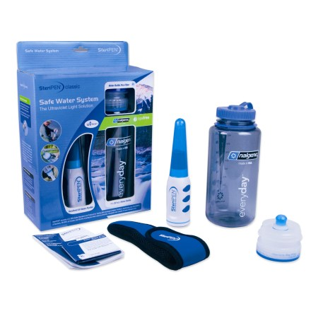 Camp and Hike The SteriPEN Safe Water purifier system is an all-in-one purifier kit for making great-tasting potable water while hiking the trail or traveling the world. - $79.95