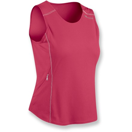 The lightweight Sugoi Climate tank top is perfect for training in hot weather. Polyester front panel and mesh sides and back provide maximum cooling and moisture management. Relaxed fit offers cling-free comfort. Closeout. - $12.73