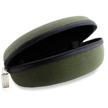 Entertainment Ideal for traveling and camping, this crescent shaped SunCloud Explorer Zip semi-hard sunglass case allows you to stash your glasses for secure protection. - $8.95