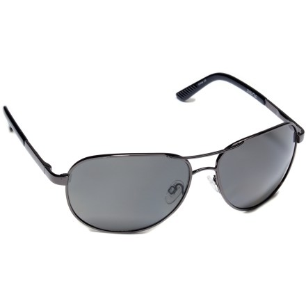 Entertainment Not just a fashion icon, the SunCloud Aviator sunglasses feature a wire frame design and polarized lenses for protection from the sun's harmful rays. - $59.95