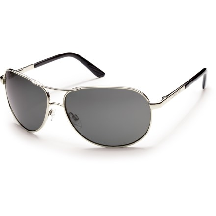 Entertainment In classic wire aviator style, the SunCloud Aviator polarized sunglasses provide full coverage and 100% UV protection to keep your eyes shielded from the sun. - $59.95