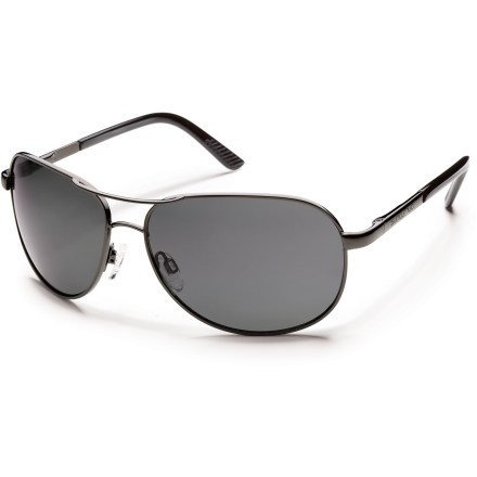 Entertainment In classic wire aviator style, the SunCloud Aviator Reader polarized sunglasses provide full coverage and 100% UV protection, with subtle bifocal inserts so you won't have to carry 2 pairs. - $39.93