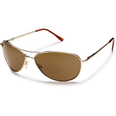 Entertainment A small size of the classic wire aviator, the SunCloud Patrol polarized sunglasses provide full coverage and 100% UV protection to keep your eyes shielded from the sun. - $59.95