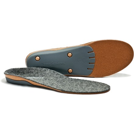 Superfeet merinoGREY premium insoles offer the comfort of merino wool atop a supportive platform for enhanced support in medium to high volume boots, shoes, loafers or other work or casual footwear. - $49.95