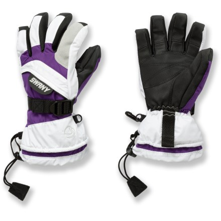 The Swany X-Over II gloves for kids offer a winning combination of warmth, dexterity and waterproof protection. - $23.93