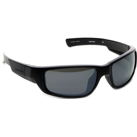 Entertainment Switch B7 polarized interchangeable sunglasses keep your eyes protected, featuring thick temples and oversize rectangular lenses for full coverage on bright days. - $103.93