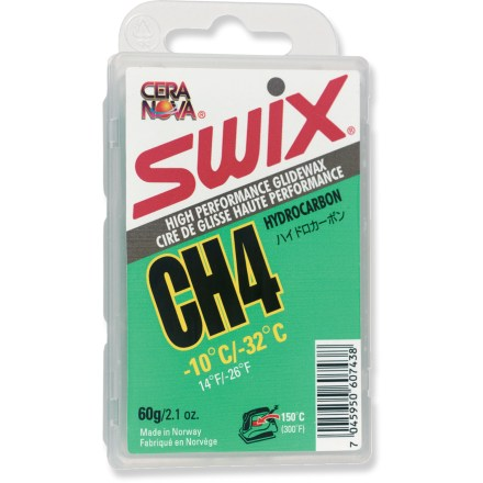 Ski This high-performance Swix CH4 Green hydrocarbon wax is for use on snowboard, alpine and Nordic ski bases. - $12.95