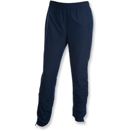 The Swix Cruising Plus pants combine warmth with wind-blocking performance and great breathability to keep kids comfortable when cruising through chilly temps. Polyester fabric is wind- and water-resistant; polyester/spandex panels at sides offer freedom of movement and breathability. Durable Water Repellent finish causes water to bead up and roll off, fending off light rain and snow. Polyester fleece lining adds warmth and helps wick moisture away from the body to enhance comfort. Elasticized waistband with drawstring ensures a comfortable fit. The Swix Cruising Plus pants have elasticized cuffs to keep pant legs in place. - $34.83