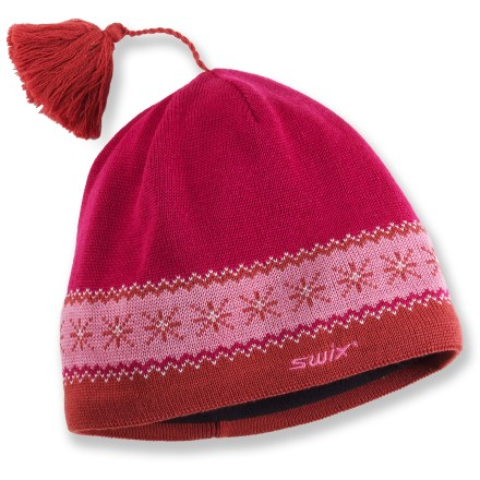 Ski The Swix Johan hat is ready to head into snow-filled landscapes. Wool and acrylic blend supplies the best attributes of both: the natural warmth and durability of wool and the easy care and softness of acrylic. Polyester microfleece lining is soft against skin, and provides extra warmth. Closeout. - $14.83