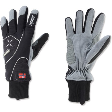 Ski The Swix Star XC-100 gloves offer great warmth and a sleek fit for comfort and performance when you're kicking and gliding on the cross-country trails. - $40.00