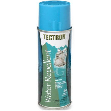 Camp and Hike Tectron gear water repellent spray creates a water-repellent barrier on natural and synthetic fabrics. Great for use on backpacks, tents and apparel. - $10.00