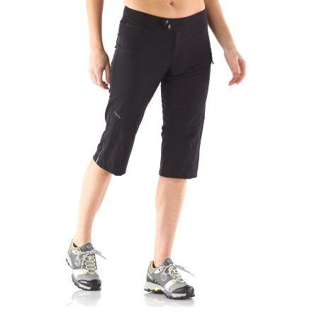 Fitness These women's Terry Metro bike capri pants are built for urban exploring on 2 wheels. Relaxed fit, casual style and bike-friendly features allow easy ambling from farmers markets to coffee shops. Stretch-woven, quick-drying nylon/spandex fabric of outer pants moves moisture away for cool, dry comfort. Removable mesh liner shorts feature nylon/spandex blend for moisture-wicking, chafe-free comfort under any of your casual bottoms. Comfort chamois in mesh liner shorts boosts comfort in the saddle for short to moderate rides; antimicrobial finish discourages odors. Snaps on the adjustable waistband personalize the fit. 4 pockets keep all your essentials stowed: 2 front zippered pockets, 1 back patch pocket and 1 cargo pocket with hidden magnet closure. Terry Metro Capri pants feature reflective hits to boost your visibility in low light. - $69.93