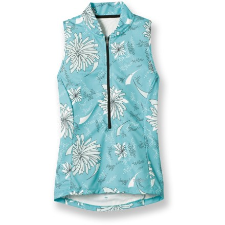 Fitness The Terry Sun Goddess Bike jersey offers a flattering, feminine fit so you'll look great as you're zipping by the competition. - $39.73
