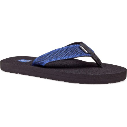 Entertainment With colorful flair, the Teva Mush II flip-flops keep feet comfy and chill for casual wear around the pool, along the boardwalk or at the park. - $11.83