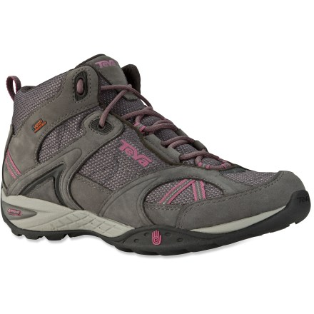 Camp and Hike Teva Sky Lake Mid eVent trail shoes are a great choice for day hikes in variable conditions. - $46.73