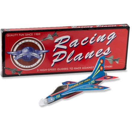 Camp and Hike The Lagoon Group Retro Planet Racing Planes are perfect for high-speed aerial fun. Gliders can be hand-launched or shot into the air with a rubber band (not included). Package of 3 gliders. - $4.83