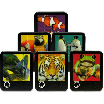 Camp and Hike The Lagoon Group Brilliant Creatures puzzle will keep kids mesmerized with one of 6 brightly colored images. Enjoy either a clownfish, parrots, penguins, chameleon, tiger or frog. Comes in assorted styles only; sorry, specific style requests cannot be accommodated. - $6.00