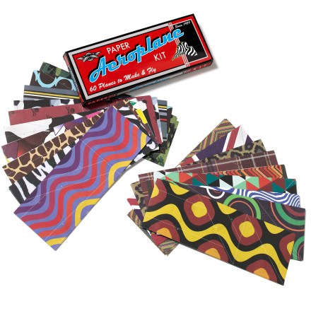 Camp and Hike The Lagoon Group Retro Planet paper airplane kit lets you perform trick and hold competitions with an array of colorful, fold-and-fly aircraft. Includes 60 sheets of paper with folding instructions printed on each sheet. - $8.93