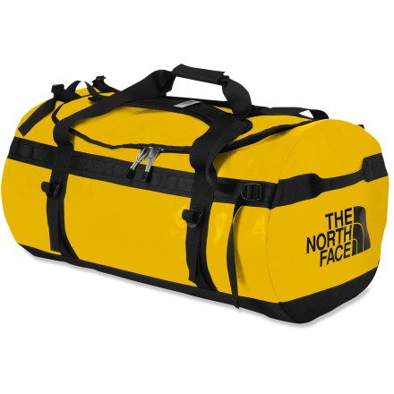 Camp and Hike This large Base Camp duffel from The North Face is expedition-ready, thanks to burly construction and cavernous space, swallowing gear for trips to Greenland or Greensboro. - $115.93