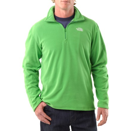 The North Face TKA 100 Microvelour Glacier Quarter-Zip pullover has an unparalleled soft hand and impressive efficiencies over the original TKA microfleece fabric. - $37.93