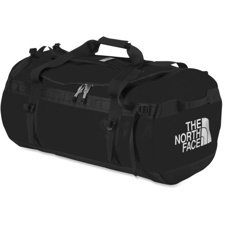 Camp and Hike Boasting behemoth-like capacity, the XX-large Base Camp duffel from The North Face is for those who need to bring everything and then some for their expeditions and adventures. - $195.00