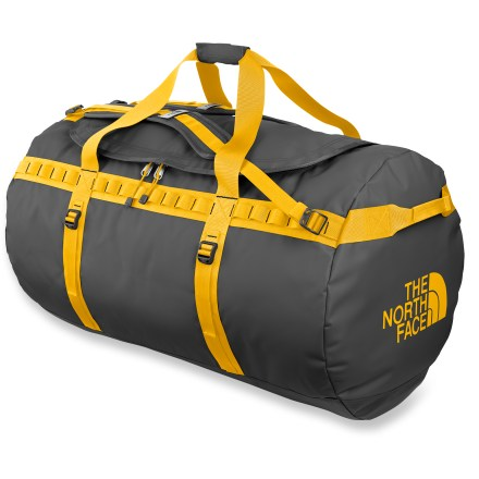 Camp and Hike With monstrous capacity, the X-large Base Camp Duffel from The North Face is built to haul your adventure gear around the world. Kitchen sink not included. - $118.93