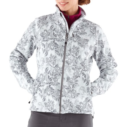 Snowboard The North Face Apex Bionic women's soft-shell jacket sports windproof features, and its stretchy, comfortable fit is ideal for multiple activities. - $73.83