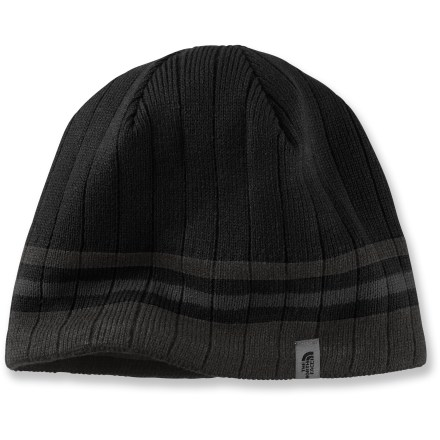 Ski The North Face Blues II beanie is a great choice for skiing and riding with its warm and quick-drying acrylic. Cozy acrylic keeps you warm without itching or discomfort; soft microfleece earband adds warmth. - $25.00