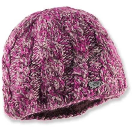 Ski The North Face Fuzzy Cable beanie for women has a touch of alpaca for a soft, luxurious feel. Wool/acrylic/alpaca fabric blend provides light weight and soft, itch-free warmth; plus, it's quick drying. One size fits most. - $23.93