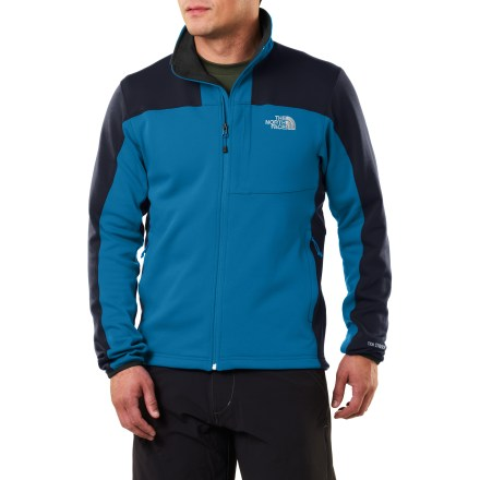 Camp and Hike The North Face Momentum jacket is designed for aerobic use in crisp weather. This breathable, full-zip jacket fosters unrestricted movement thanks to its stretchy fabric makeup. - $68.93