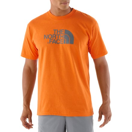 The Half Dome T-shirt from The North Face is a classic tee for casual outings. Cotton is naturally soft, breathable and comfortable. Includes a rib-knit collar. - $11.93