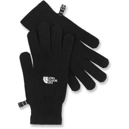 Camp and Hike The North Face Liner gloves fit inside shell gloves for added warmth on cold days. Rayon from bamboo is blended with spandex to give the glove liners stretch. Gloves can also be worn solo for lightweight warmth during brisk runs. - $20.00