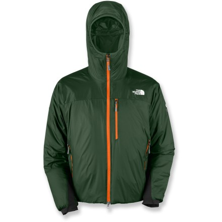 The Redpoint Optimus jacket is a favorite among The North Face athletes. It's the pinnacle insulated jacket that's highly durable for a wide range of activities and conditions. Designed with PrimaLoft(R) One insulation, this stellar synthetic material is extremely lightweight, warm and packable. Silky nylon shell sheds water with a light polyurethane water-repellent finish; seamless yoke and shoulders aid weather repellency. Polyester taffeta lining wicks moisture, dries quickly and slides easily over layers. Insulated, helmet-compatible hood with stretch binding and a peripheral adjustment provides good side-to-side visibility. Draft flap behind front zipper restricts cold air entry. Soft-shell cuffs and drawcord hem. Hand pockets and Napoleon chest pocket; jacket stows inside internal chest pocket. The North Face Redpoint Optimus features an alpine fit that minimizes bulkiness. - $138.93