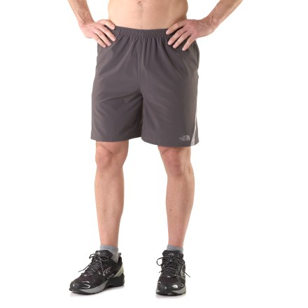 Fitness The North Face Agility shorts are ready for the trail whenever you are. Fabric is stretchy and breathable; stretch-mesh panels are placed to increase ventilation in high-heat areas. Crepe liner feels soft against skin and helps keep things comfortable. Embedded silver salts fight odors, keeping your shorts fresh as a proverbial daisy. The North Face Agility shorts feature an elasticized waist with drawcord, reflective highlights, 2 hand pockets and a zippered stash pocket. - $21.83