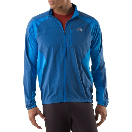 Fitness Lightweight, comfortable and highly ventilated, The North Face Better Than Naked Cool jacket helps you focus on the run at hand. Lightweight ripstop nylon is used on panels on the front and back to create a barrier against wind; polyester and mesh maximize breathability in remainder of jacket. A Durable Water Repellent finish is applied to help light precipitation bead up and roll off. Perforated ventilation areas are positioned to reduce claminess and vent warm air like a chimney. Zippered security pocket stows small items. You'll run farther without chafing thanks to the bonded, stitchless seams. The North Face Better Than Naked Cool jacket is designed to work with the Better Than Naked Cool T-shirt (sold separately) to keep you comfortable in any temperature. Ventilation areas of the T-shirt align with ventilation areas of the jacket to help keep you dry and comfortable. Reflective logos help increase your visibility in low light. - $62.83