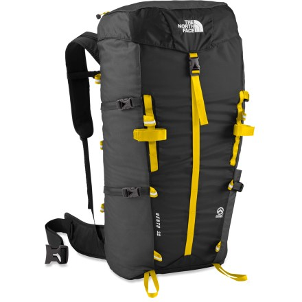 Camp and Hike The North Face Verto 32 pack is designed with athlete input to comfortably haul all your summit day essentials. It also whittles weight down to a bare minimum with light and tough materials. - $99.00