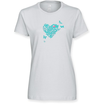 You'll quickly fall in love with the Heart You T-shirt from The North Face. Cotton fabric is naturally soft, breathable and comfortable. Closeout. - $10.83