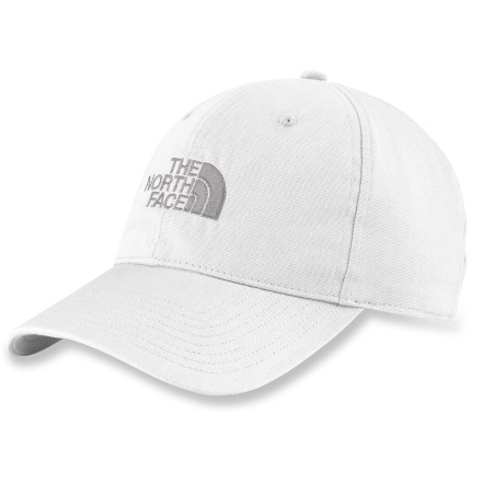 The North Face Organic Cotton Logo hat goes on easy and features the classic The North Face logo. Made from certified 100% organic cotton for breathable comfort and easy care. Adjustable back strap. Closeout. - $14.83