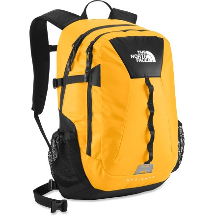Camp and Hike The North Face Base Camp Hot Shot daypack combines the durable and waterproof fabric of the legendary Base Camp duffel with the proven and popular design of the Hot Shot pack. - $75.93