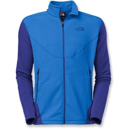 Camp and Hike The North Face Jacquard Split full-zip top features body-mapped jacquard fabrication and FlashDry(TM) fibers to prevent overheating on fast hikes. Body-mapped polyester fleece is infused with FlashDry volcanic minerals to boost wicking and drying times. Underarm gussets and stretch in fabric encourage free range of motion. 2 zip hand pockets secure small items. Packable Jacquard Split full-zip top is a perfect midlayer for trail adventures. - $31.83