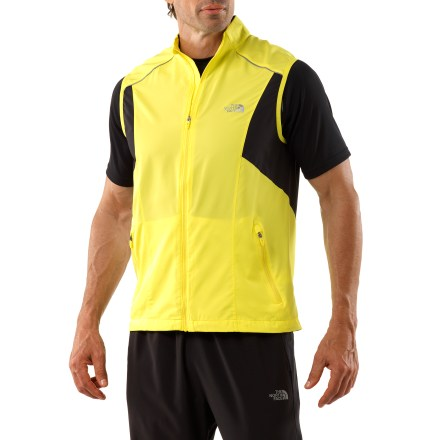 Fitness When a jacket is too much, The North Face Torpedo vest is the perfect solution for uninviting chills. Polyester shell shields against wind and light rain; mesh at armpits maximizes breathability. Durable water repellent finish fends off light rain showers and snow. Fabric provides UPF 50+ sun protection, shielding skin from harmful ultraviolet rays. Layered ventilation and back cape prevent air from stagnating inside. Zip hand pockets stash your workout essentials. Cord hole in media pocket lets you tote your tunes. Reflective logos on The North Face Torpedo vest boost your visibility. - $51.93
