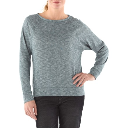 The North Face Hallina shirt outfits you for casual days that require a unique, fun style. Cotton slub jersey fabric is soft and breathable. Keyhole back neck with coconut button closure; scoop neckline for style. Loose fit for comfort. - $29.83