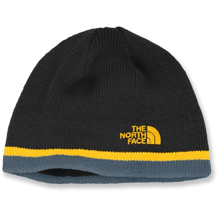 The North Face Keen beanie offers a winning combination of warmth, traditional alpine style and quality for boys on the go. Soft acrylic insulates even when wet but, unlike wool, it doesn't itch. Microfleece lining wicks away moisture and enhances warmth. - $20.00