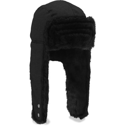 Entertainment Show off your cool fashion sense and stay toasty warm in the stylish Hoser hat from The North Face. Acrylic faux-fur top flap and earflaps are soft and fuzzy; hat is lined with soft, warm polyester fleece. - $30.93